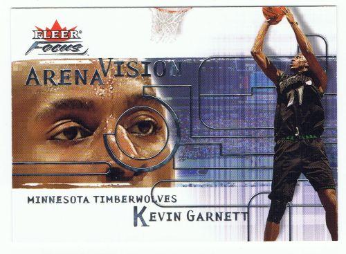 Garnett, Kevin 2000-01 Fleer Focus Arena Vision | RK Sports