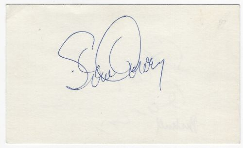 garvey  steve autographed 3x5 index card